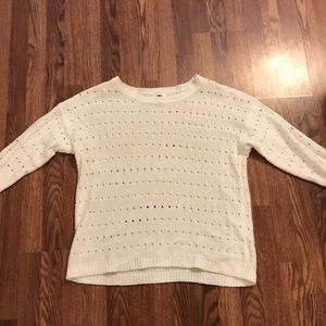Lightweight cream sweater for spring